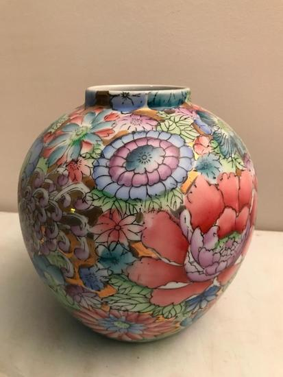 Oriental Design Ginger Jar