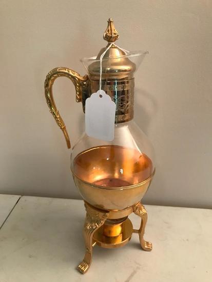 Vintage Plated Corning Coffee Warmer
