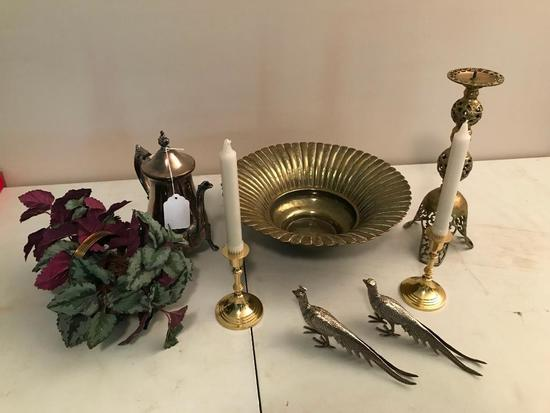 Group Of Brass & Silverplate