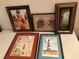Group Of (5) Framed prints