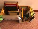 (2) Boxes Of Picture Frames