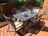 Garden Treasures Cast Aluminum 6-Pc. Patio Set