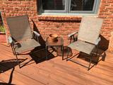 (2) Outdoor Chairs & Drink Table