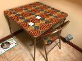 Folding Card Table & 1 Chair