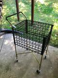 Wire Basket On Wheels