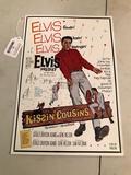 Elvis Presley Embossed Metal Sign