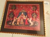 Contemporary Framed 1500's Print