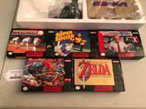 Super Nintendo System & (5) Games In Original Boxes
