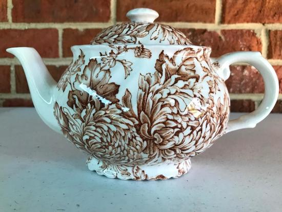 English, Transfer Ware, Tea Pot