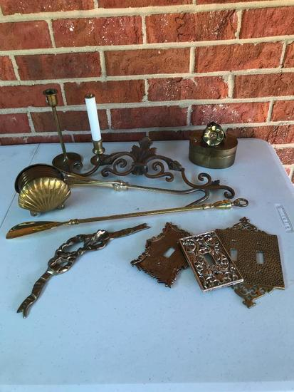 Group of Brass Items as Shown