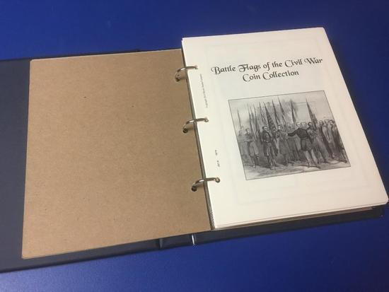 Battle Flags of the Civil War Collection in Binder