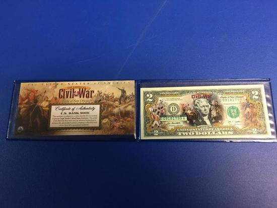 Commemorative $2.00 Bank Note for Civil War, Battle of New Orleans