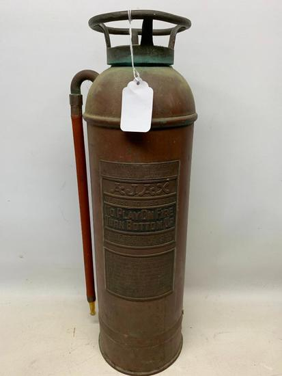 "Vintage ""Ajax"" Brass & Copper Fire Extinguisher"