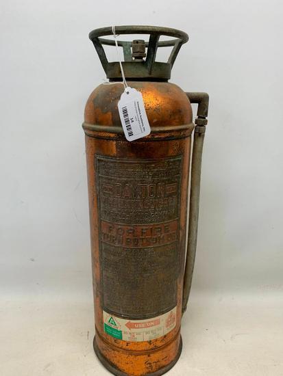 """Vintage """"Dayton"""" Copper & Brass Fire Extinguisher"""