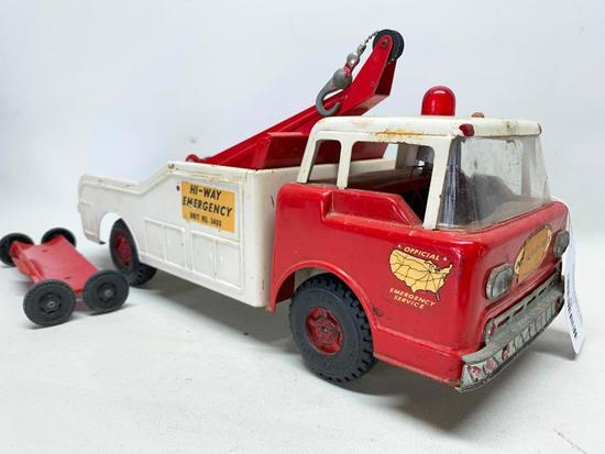 """Vintage Ny-Lint Toys """"Official Emergency Service"""" Truck"""
