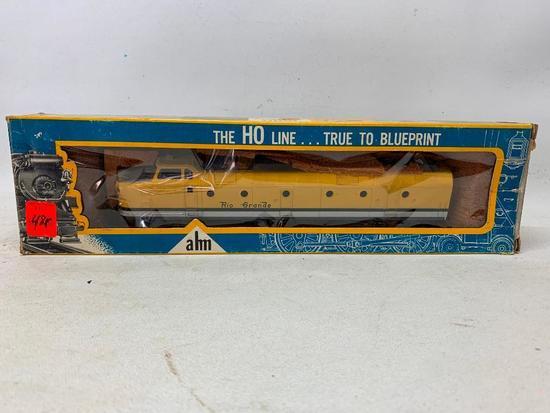 Vintage AHM Ho Scale Diesel Rio Grande Krauss Maffei Locomotive In Box