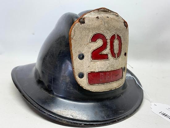"Vintage Gen-Tex Fire Fighter Helmet Marked ""B. F. D."""