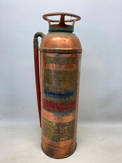 "Vintage ""Kontrol"" Copper & Brass Fire Extinguisher"