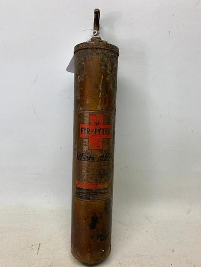 """Vintage Fyr-Fyter Model """"A"""" Brass Extinguisher"""
