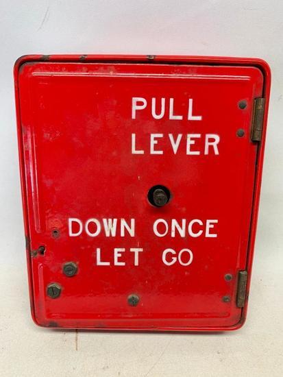 Vintage Gamewell Peerless Porcelain Fire Alarm Signal Box