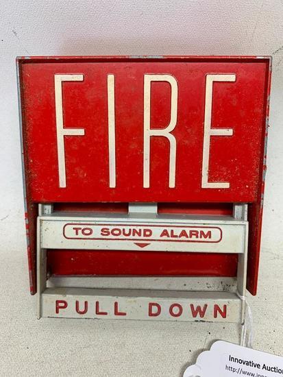 Vintage Aluminum Fire-Lite Manual Pull Box