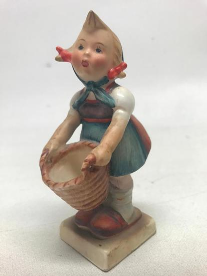 "M. I. Hummel Figurine: ""Girl With Basket"""
