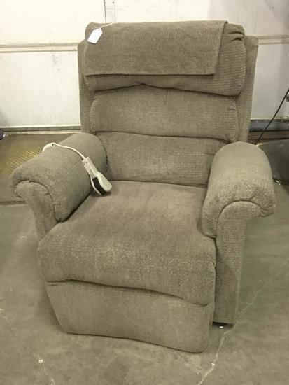 Pride Upholstered Left Recliner W/Heat & Massage
