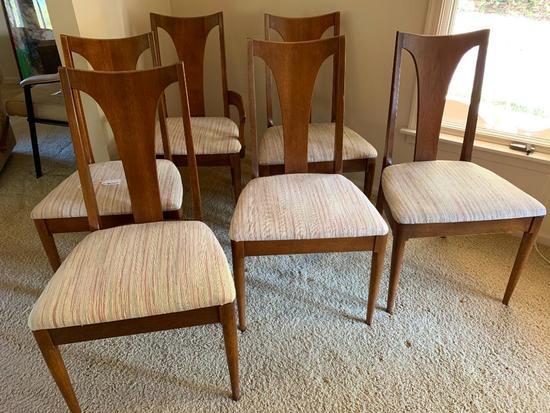 (6) Mid-Century Dining Room Chairs In Walnut-Looks Like Broyhill's Brasila Line