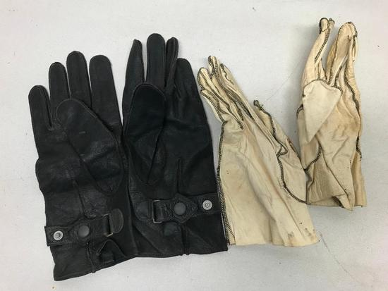 WW II Leather Aviator Gloves