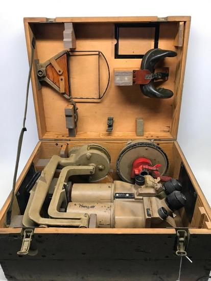 WW II German Tank Binoculars In Original Box W/Accessories