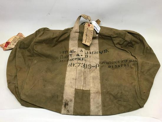WW II Military Aviators Kit Bag