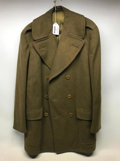 WW II Army Officers Wool Overcoat