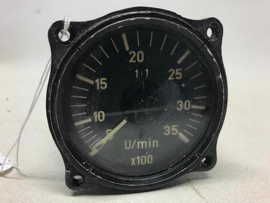 German Luftwaffe WW II Airplane Instrument Tachometer