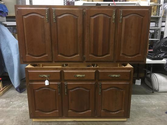 Cherry Finish Bottom and Top Cabinets