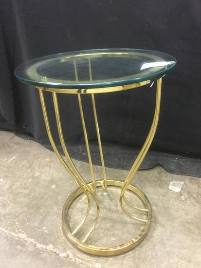 Brass and Glass, Decorative Stand