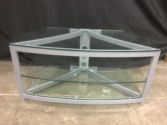 Glass and Metal Entertainment Unit
