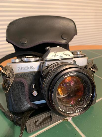 Minolta XD11 35mm Camera W/Case