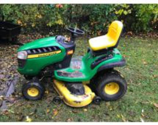 Online Only Auction Tools, JD Mower, & Household