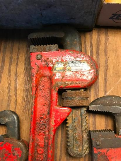 (4) Pipe Wrenches