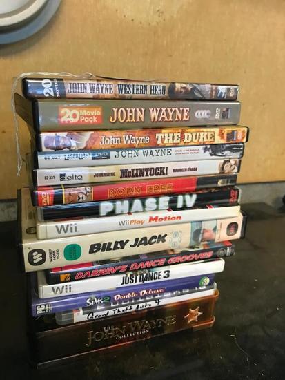 Group Of John Wayne DVD's
