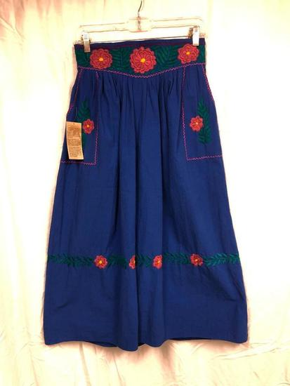 Lobas Del Mar Embroidered Skirt W/Pockets