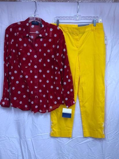 Talbots Pants W/Liz Claiborne Top