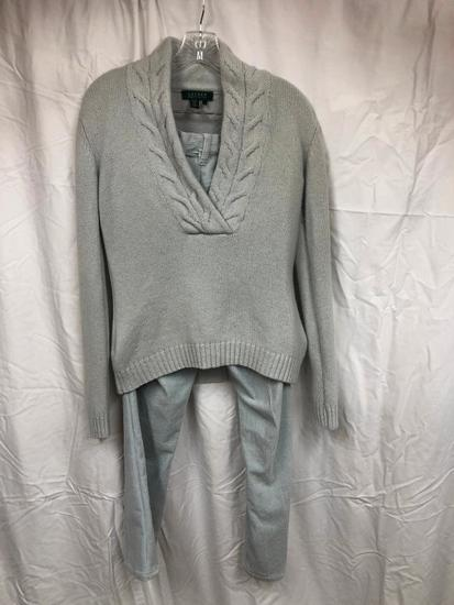(2) Ralph Lauren Wool Sweater & Straight Leg Courderoy Pants