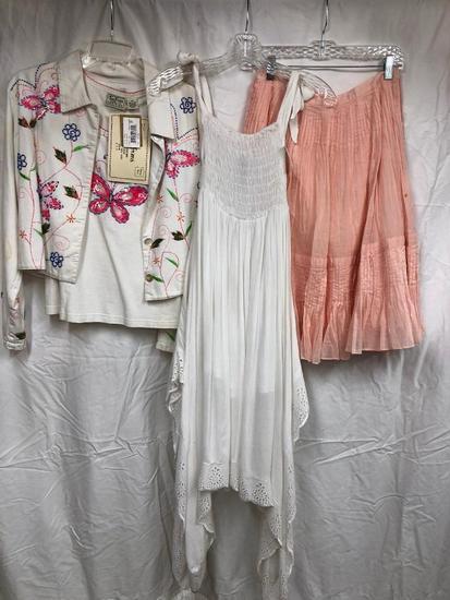 White Dress W/Jacket & Shirt