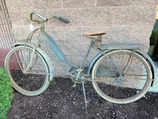 Vintage 1940's Huffman Girls Tank Bicycle-Original Condition