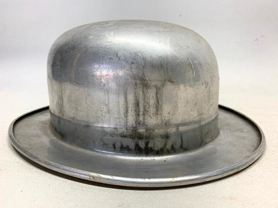 Vintage Aluminum Derby Hat