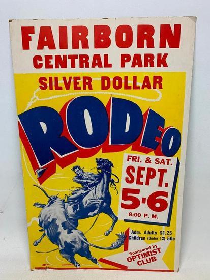 Vintage Fairborn, Ohio Rodeo Poster