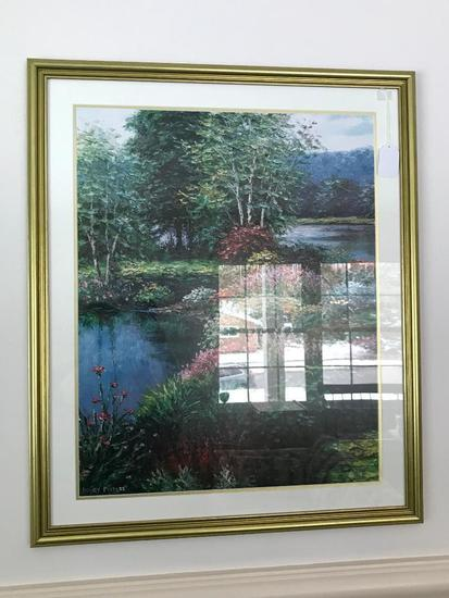 Print By Henry Peters Is Matted & Framed