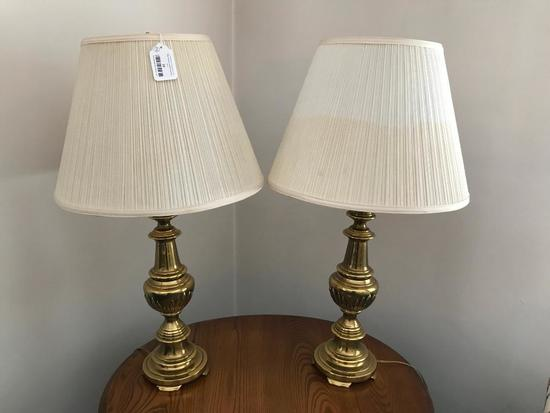 (2) Matched Decorator Lamp W/Shades
