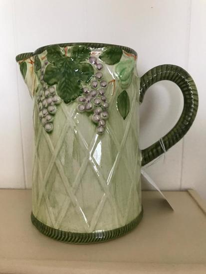 J. Willfred Hand Painted Pitcher